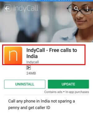 playstore se indycall app download kare
