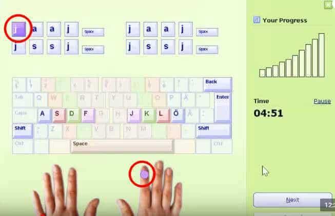 typing master से typing practice करे