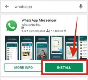 whatsapp install kare