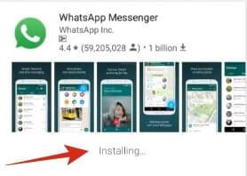 whatsapp installing