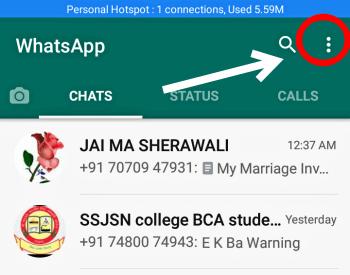 open whatsapp in mobile