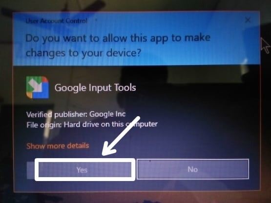 installing google hindi input tool
